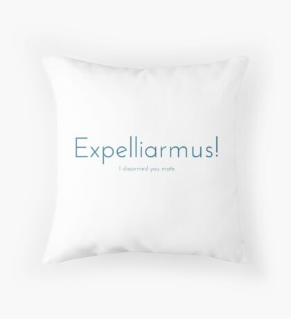 Expelliarmus! Throw Pillow