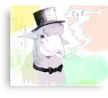 Smokin' sheep Canvas Print