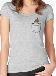 Totoro Pocket Women's Fitted Scoop T-Shirt