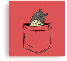 Totoro Pocket Canvas Print