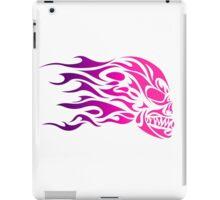 Flame Tribal Skull (Pink) iPad Case/Skin