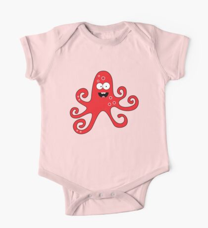 Funny cartoon girl octopus One Piece - Short Sleeve