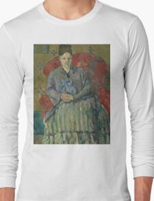 Paul Cezanne - Madame Cezanne in a Red Armchair  1877 Long Sleeve T-Shirt