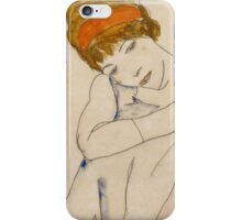 Egon Schiele - Dancer, Die Tanzerin 1913 Egon Schiele ,Woman Portrait iPhone Case/Skin