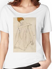 Egon Schiele - Dancer, Die Tanzerin 1913 Egon Schiele ,Woman Portrait Women's Relaxed Fit T-Shirt