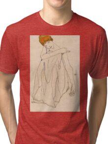 Egon Schiele - Dancer, Die Tanzerin 1913 Egon Schiele ,Woman Portrait Tri-blend T-Shirt