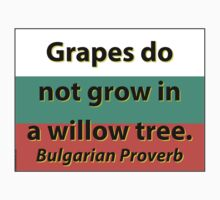 Grapes Do Not Grow - Bulgarian Proverb One Piece - Short Sleeve
