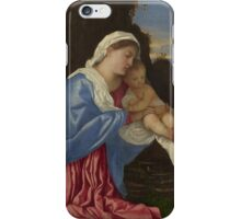 Tiziano Vecellio, Titian - The Holy Family iPhone Case/Skin