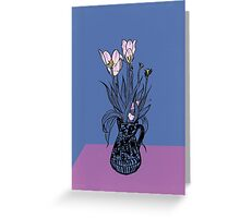 Wonky Flora Greeting Card