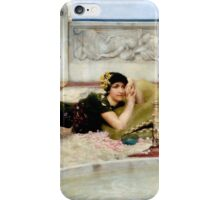 Lawrence Alma-Tadema - Love in Idleness 1891 Romance iPhone Case/Skin