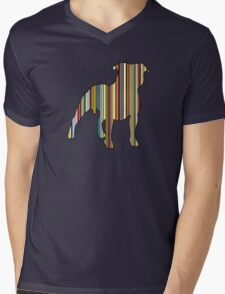 Staffordshire Bull Terrier Mens V-Neck T-Shirt