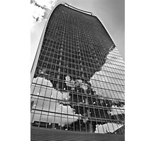 Black and White Walkie-Talkie, London Photographic Print