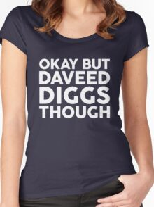 Daveed Diggs tho. (white font) Women's Fitted Scoop T-Shirt