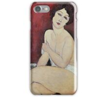 Amedeo Modigliani - Large Seated Nude iPhone Case/Skin