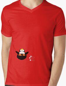 Overfed Penguin Mens V-Neck T-Shirt