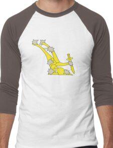 The original Starry Plough flag flown during the Easter rising Men's Baseball ¾ T-Shirt