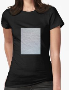 FRESH SOFT WHITE SNOW TEXTURE Womens Fitted T-Shirt