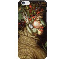 Giuseppe Arcimboldo - Summer 1572 , Fashion Portrait, Italian Handsome Man. iPhone Case/Skin