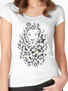 'Lion' (King of the Jungle) Women's Fitted Scoop T-Shirt