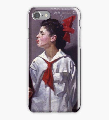 Norman Rockwell  - Spelling Bee  iPhone Case/Skin