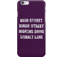 Main Street, Birch Street, Higgins Drive, Cobalt Lane... – Jessica Jones inspired, Alias iPhone Case/Skin