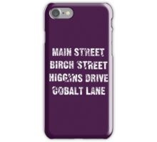 Main Street, Birch Street, Higgins Drive, Cobalt Lane... – Jessica Jones inspired, Alias iPhone Case/Skin