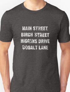 Main Street, Birch Street, Higgins Drive, Cobalt Lane... – Jessica Jones inspired, Alias Unisex T-Shirt