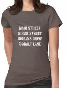 Main Street, Birch Street, Higgins Drive, Cobalt Lane... – Jessica Jones inspired, Alias Womens Fitted T-Shirt