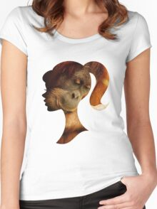 Orangutan Hides in Barbie Girl's Soul Women's Fitted Scoop T-Shirt