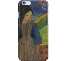 Paul Gauguin - Two Breton Girls by the Sea  iPhone Case/Skin