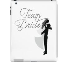 Team Bride Wedding Groom Bachelorette Party Bridal Shower Bride To Be Bridesmaid Squad Wedding Planner Distressed Vintage Burnout  iPad Case/Skin