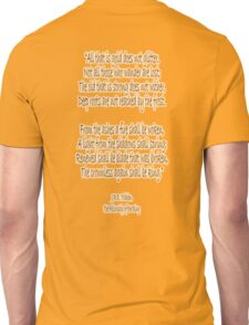 J.R.R, Tolkien, The Fellowship of the Ring, All that is gold does not glitter, Unisex T-Shirt