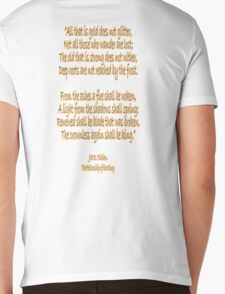 J.R.R, Tolkien, The Fellowship of the Ring, All that is gold does not glitter, Mens V-Neck T-Shirt