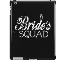 Bride's Squad Wedding Groom Bachelorette Party Bridal Shower Bride To Be Bridesmaid BFF Favors Wedding Planner Distressed Vintage Burnout  iPad Case/Skin