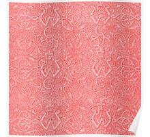 Vintage Triskle Celtic Trinity Knot Coral Peach Poster