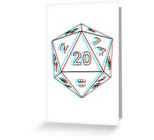 3D D20 Dice Greeting Card