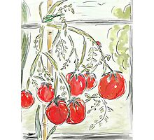 "Tomato Digital Painting (""In the Greenhouse"") Photographic Print"