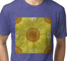 Sunny Day Daisy Floral Abstract Tri-blend T-Shirt
