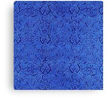 Vintage Triskle Celtic Trinity Knot Sapphire Blue Canvas Print