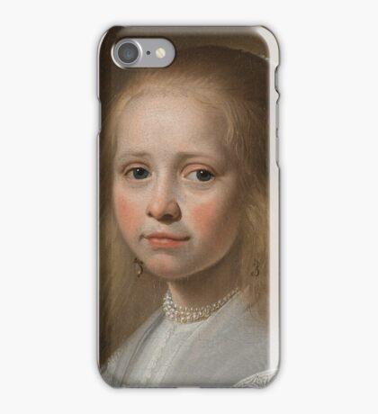 Johannes Cornelisz Verspronck - Portrait of a Girl Dressed in Blue 1641 iPhone Case/Skin