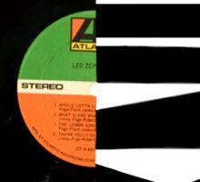 Vinyl record split image  Sticker