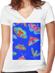 Serious Mothage Women's Fitted V-Neck T-Shirt