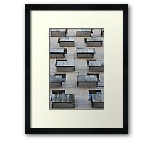 balconies outside building Framed Print