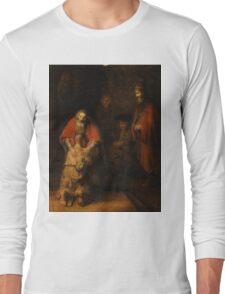 Rembrandt Harmensz van Rijn - Retugarn of the Prodil Son  Long Sleeve T-Shirt