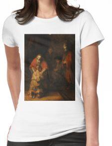 Rembrandt Harmensz van Rijn - Retugarn of the Prodil Son  Womens Fitted T-Shirt