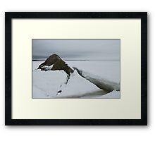 seascape rock under the ice Framed Print
