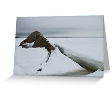 seascape rock under the ice Greeting Card