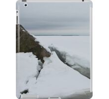 seascape rock under the ice iPad Case/Skin