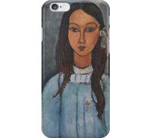 Amedeo Modigliani - Alice . Girl Portrait . Fashion . Modigliani , Alice  iPhone Case/Skin