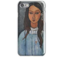 Amedeo Modigliani - Alice . Girl Portrait . Fashion . Modigliani , Alice  iPhone Case/Skin